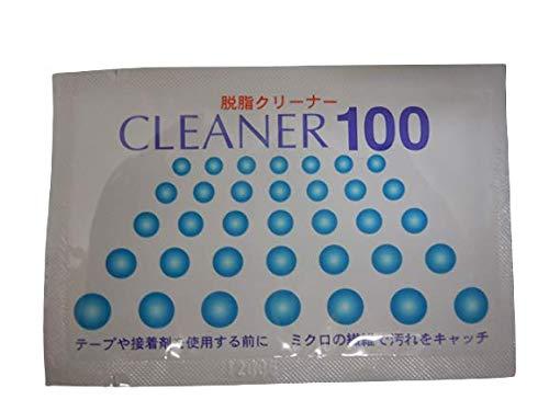 脱脂クリーナー CLEANER100 吸盤 粘着テープ を ダッシュボードに付ける前に 脱脂用 (1枚)