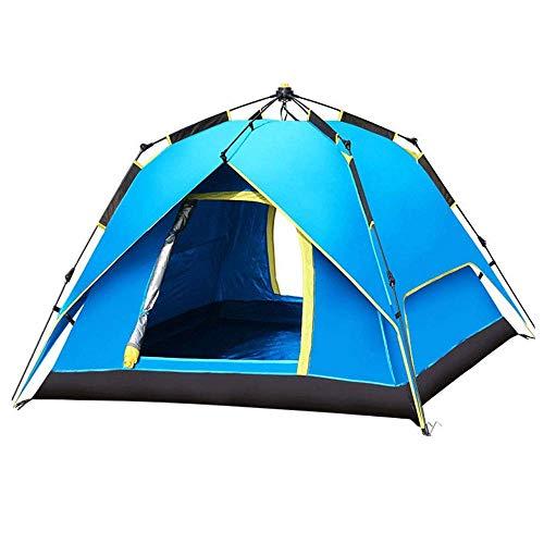 L.TSA Tente de Camping en Plein air Festival Tente de Camping avec Technologie Blackout Bedroom, Festival Essential, 100% imperméable avec Cousu dans la Tente en dôme de Tapis de Sol
