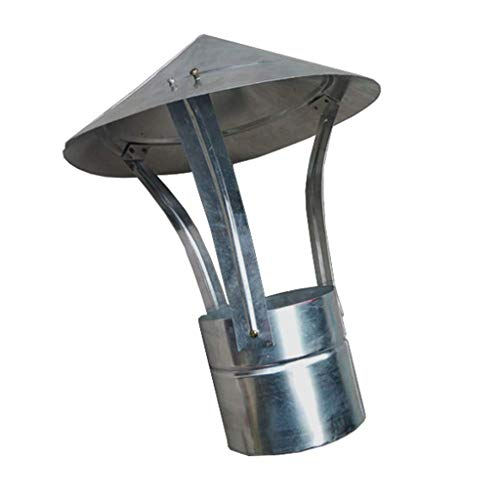 JXJ Chimney Flue Cone Top Rain Cap with Screen Aluminum Plate Chimney Pipe (Size : 100mm)
