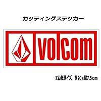 (⑤)ボルコム VOLCOM カッティング ステッカー (赤, 20)