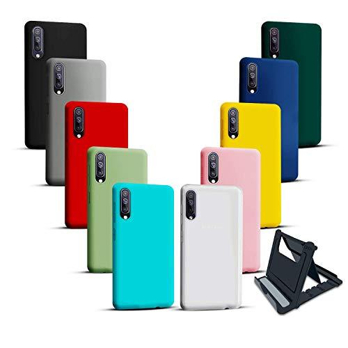 Iuveruln 10X Cover Compatibile con Samsung A50/Cover Samsung A30S, Custodia Morbida in Silicone TPU Sottile Tinta Unita, Case Ultra Sottile AntiGraffio e Antiurto- 10 Colori