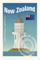 ERZANパズル500ピースニュージーランドケープレインガ灯台トラベルスタンプ大人と子供のための木製パズル