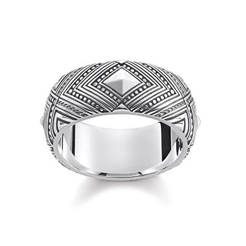 THOMAS SABO Unisex-Ring Afrika Ornamente 925 Silber Gr. 54 (17.2) - TR2127-637-21-54