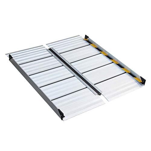 JLXJ Doorways Stairs Foldable Wheelchair Ramp/threshold Ramps, Mobility Handicap Suitcase, Portable Aluminum (Size : 120cm(4ft))