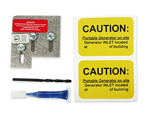 SD-200A Square D Generator Interlock Kit QO & Homeline Indoor or outdoor 150 or 200 amp panels