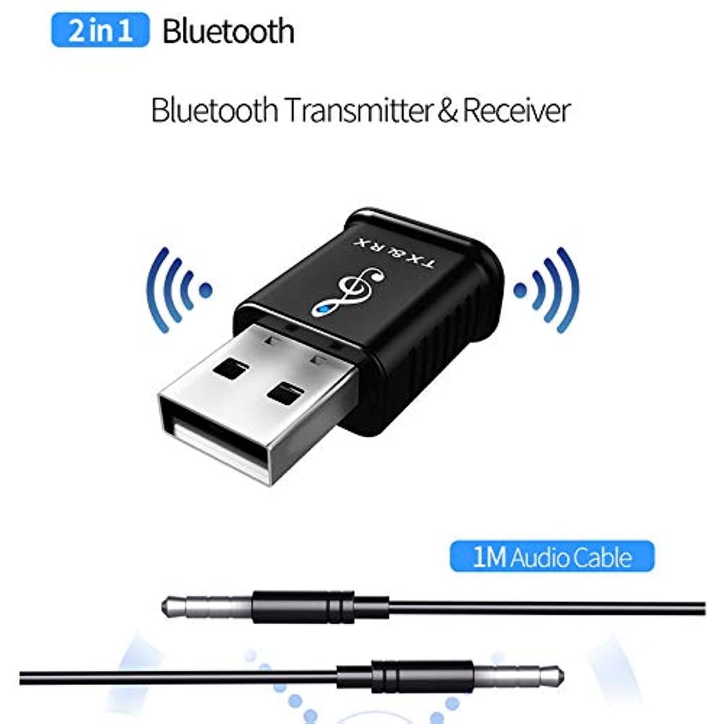 Ocamo Wireless Receiver & Transmitter, USB Receiver 5.0 Audio Transmitter Adapter for TV/PC Headphone Speaker