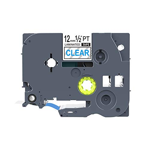 Compatible for Brother P-Touch Laminated TZe TZ Label Tape Cartridge 12mm x 8m (TZ-133 TZe-133 Blue on Clear)