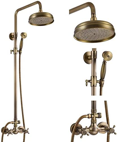 Top 10 Best antique gold exposed brass wall mount shower faucet Reviews