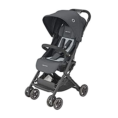 Bébé Confor Lara2 - Cochecito ligero y compacto, reclinable y plegable con cierre automático, carrito de viaje apto para avión, color gris