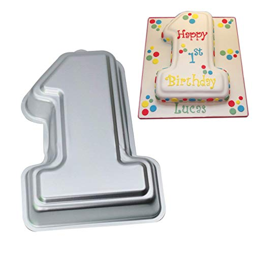 Number 1# Cake Pan- Kids 3D First Birthday Party Cake Pan Baking Pans Baby Shower Party Cake Mold