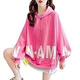 Mfacl Sudaderas Sudaderas con Capucha Ropa de Mujer otoño Manga Larga Falso suéter con Capucha suéter Femenino de Manga Larga Chaqueta Ropa Exterior (Color : Pink, Size : M)