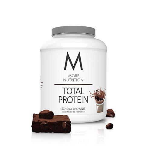 MORE NUTRITION Total Protein (1 x 1500 g) - Whey Eiweißpulver mit Casein und Laktase für Muskelaufbau (Schoko Brownie)