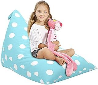 Aubliss Stuffed Animal Storage Bean Bag Chair - Plush Animal Toy Organizer for Kids, Girls and Children | Extra Large | 23 Inch Long YKK Zipper | Premium Cotton Canvas | Xmas Gift Ideas