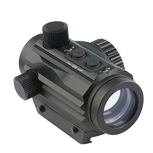 Twod 1x22mm 5 MOA Red Green Dot Sight,Reflex Holographic Tactical Scope Dual Color Illuminated Compact Micro Red/Green Reticle with Circle Dot Micro Rifle Scope Fits 21mm Picatinny Rail Mount