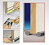 Burlete Puerta Espuma Bajopuerta 95 CM,Bajo Puerta de espuma,Doble rollo aislante (BLANCO)