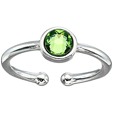 Alex and Ani August Birthstone Adjustable Ring