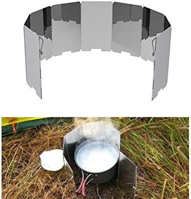 12 Pieces Foldable Camping Aluminum Alloy Stove Wind Screen Outdoor Durable