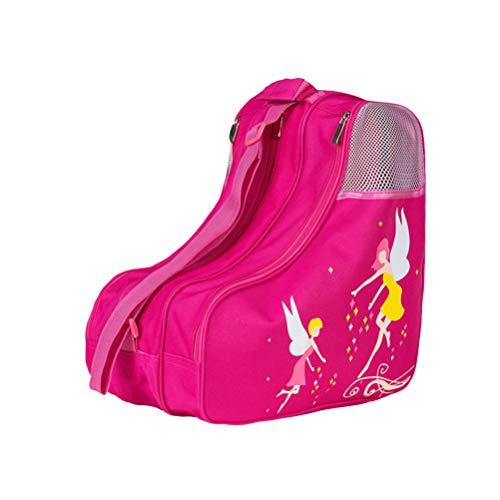 LIOOBO Bolsa Triangular de Patinaje Bolsa de Tela de Malla de Gran Capacidad Bolsa de Hombro no Tejida Paquete de contenedor de Almacenamiento de Zapatos de Skate para Viajes a casa (Rosa)