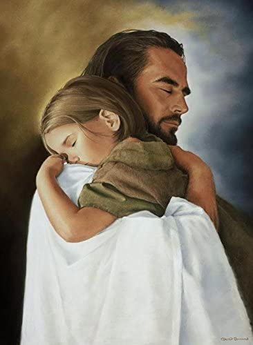 "Security 8""X10"" Wall Art Print of Jesus Christ Hugging Child by David  Bowman Christian : Amazon.com.au: Home"