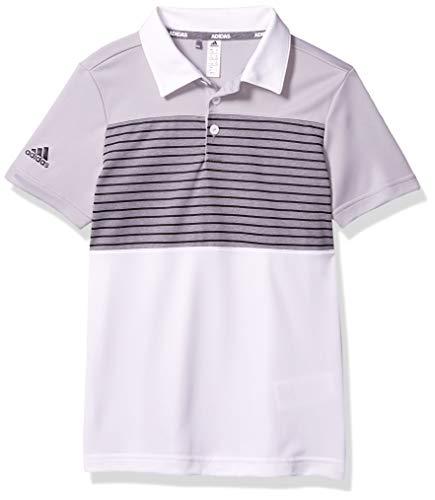 adidas Poloshirt für Jungen mit Streifen, Jungen, Polo, Engineered Stripe Polo Shirt, Grau Zwei, Small