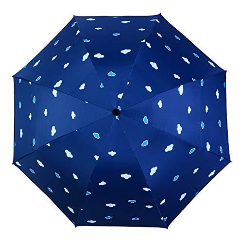 NKJH Ausgabegeräte Frauen Kleine Regenschirme Kompakt Winddicht Reiseregenschirm Sonnenschutz Sonnenschirm Schwarz Kleber Anti UV Beschichtung Kompakte Sonne Regen Regenschirm für Regenkleidung
