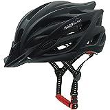 Fahrradhelm Rennrad, CE Certified Bicycle Helmet, Adjustable Lightweight Bike Helmet for Adult Men & Women, Road and Mountain Helmet with Detachable Visor (Schwarz)