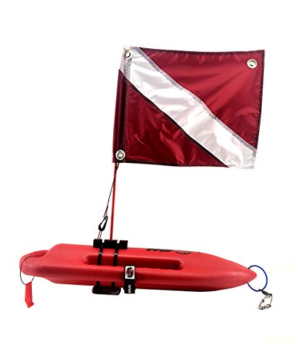 Spearfishing World Compact Lifeguard Float/Rescue Can Buoy 28' Long for Spearfishing and Scuba