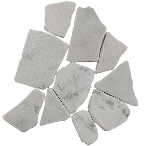 Bianco Carrara Marmorbruch Bruch Marmor Mosaik 10 mm lose Ware