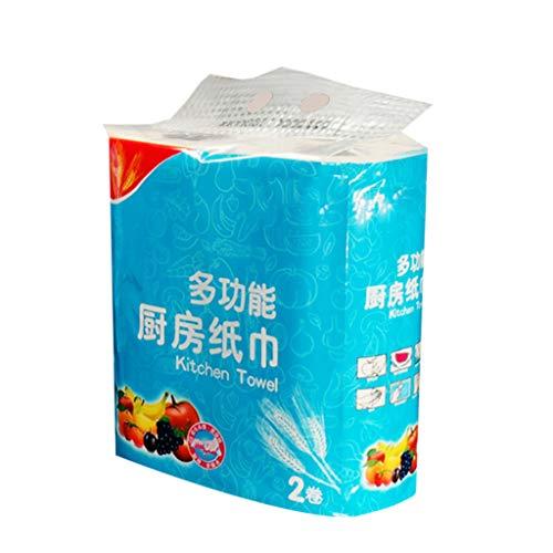YU-HELLO Paño de cocina desechable toalla de limpieza trapo de cocina multi madera pulpa papel higiénico