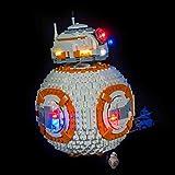 Light Kit para Star Wars BB-8 Robot Bloques de construcción Modelo - Conjunto de luz LED Compatible con 75187 (Nota: No Incluido el Modelo)