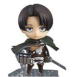 Anime Attack On Titan Levi Ackerman Action Figure Mini Version Face Variable Anime Character Models