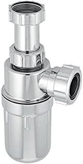 McAlpine C10AR-CP Chrome Plated Plastic Resealing Adjustable Inlet Bottle Trap-1.25 inch