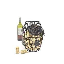 Mind Reader Wine Barrel Cork Holder
