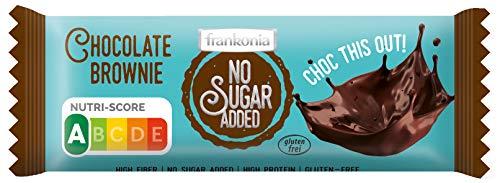 frankonia CHOCOLAT NO SUGAR ADDED Chocolate Brownie Riegel Nutri Score A, 50 g