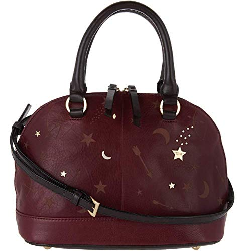 Tignanello Vintage Leather Andromeda Mini Dome Crossbody, Etched Chianti
