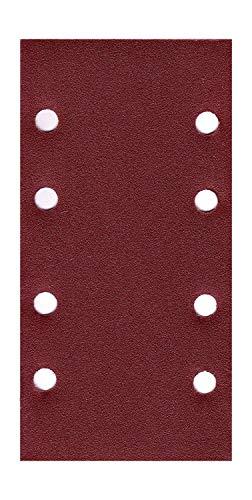 50x Schleifpapier 93 x 184 mm 8 Loch Körnung 40-180 Schleifblatt Schwingschleifer (50x Körnung 40)