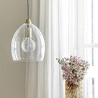 Kenay Home - Lámpara de Techo Salón Comedor Decorativa Vintage Cristal Lou