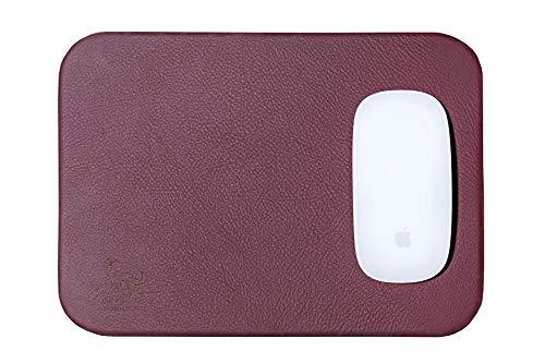 Centaur Mouse-Pad 25x18 cm handgefertigt in Deutschland Mauspad aus Leder Ecken abgerundet rutschfest weinrot weitere Farben