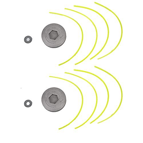 2 Piezas Cortacésped de Aluminio, Cabezal de Línea de Desbrozadora, Cabezal Desbrozadora Universal, Carrete del Cortacésped, Utilizado para Reemplazar el Carrete en las Piezas Del Cortacésped(Negro)