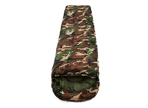 iris Army Green Sleeping Bag Envelop 3 Season Ultra Light Portable Waterproof Comfort for...