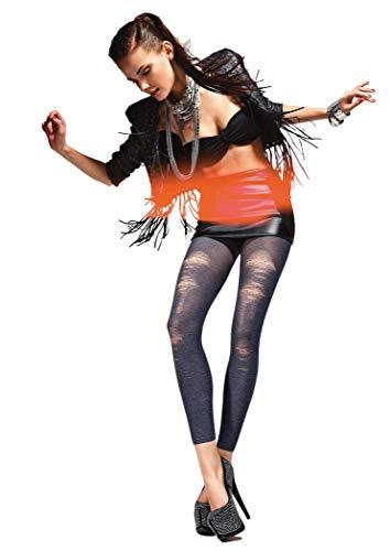 Gatta Vintage Leggings Fantasia 01 - Top modische sexy trendy gemusterte Leggings (4, BlueJeans)