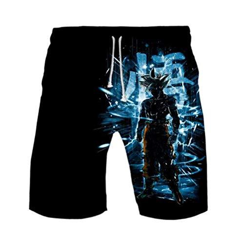 WANHONGYUE Anime Dragon Ball Z Goku Trajes de Baño Shorts de Playa Hombre 3D Imprimir Pantalones Corto Beach Board Shorts Swim Trunks