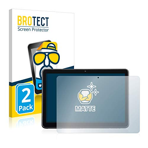 BROTECT 2X Entspiegelungs-Schutzfolie kompatibel mit Wortmann Terra Pad 1006 Bildschirmschutz-Folie Matt, Anti-Reflex, Anti-Fingerprint