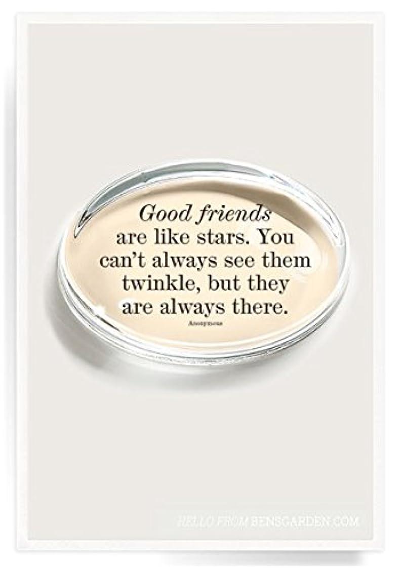 プットうなり声みなすBen 's Garden Good Friends Are Like星クリスタル楕円形Paperweight