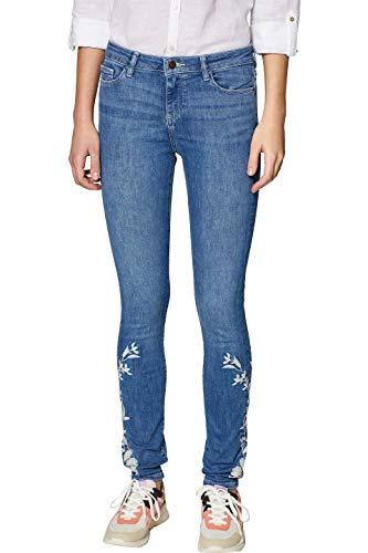 edc by ESPRIT Damen 039CC1B014 Skinny Jeans, Blau (Blue Medium Wash 902), W30/L32 (Herstellergröße: 30/32)