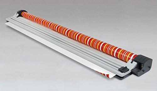 Zoomyo Papierschneider GPC 70 für Geschenkfolie und Geschenkpapier, Schneidegerät für Papier, Papierschneider für Rollen bis 70 cm Breite, Papierschneidemaschine mit Schneidleistung: max. 100 g/m²