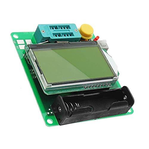 Yongenee Módulo de Prueba, M328 3.7V 20mA Transistor Tester LCR LCR Capacitancia Capacitancia Componente