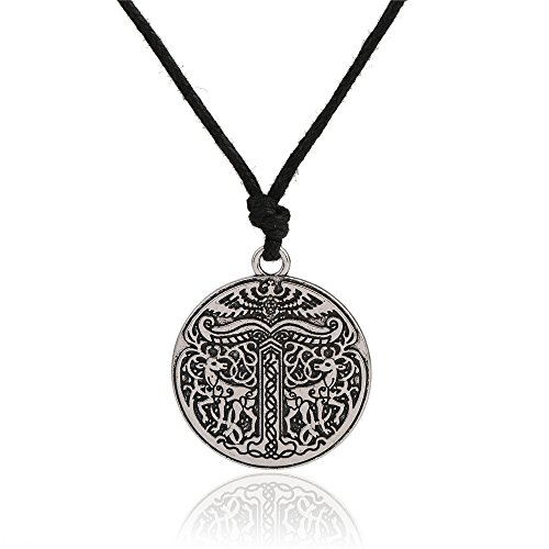 fishhook Wicca árbol de la Vida Yggdrasil Doble Ciervos runas Colgante Collar joyería