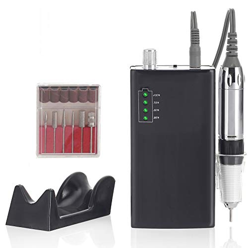 Miss Sweet Portable Nail Drill Machine Rechargeable Electric Nail File for Acrylic Nail RPM30000 (Y5 Gold)