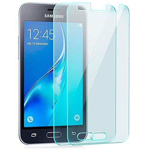 zanasta 2 Stück Bildschirmschutz Folie kompatibel mit Samsung Galaxy J1 (2016) Bildschirmschutzfolie Glasfolie Schutzfolie (gehärtetes Glas 9H) Klar